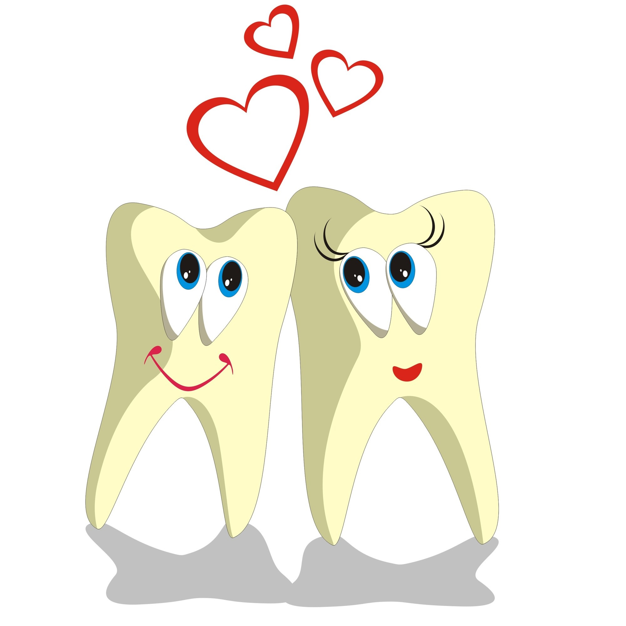 Vector. Tooth cartoon set 002